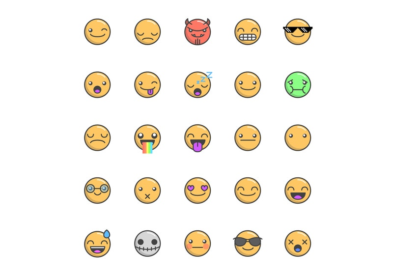 Emoticons Free Vector Icons
