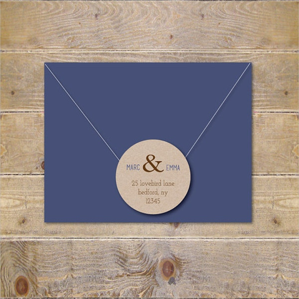 Post Card Address Label Tenmplate