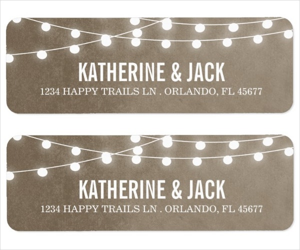18 printable address label templates psd vector eps for Wedding mailing labels templates