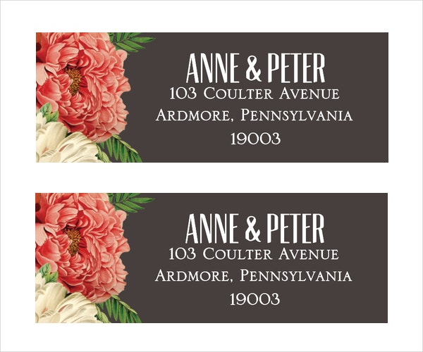 Address Label Template Free PSD Vector EPS Format Download - Template for printing address labels
