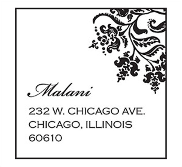 Mailing Address Label Template