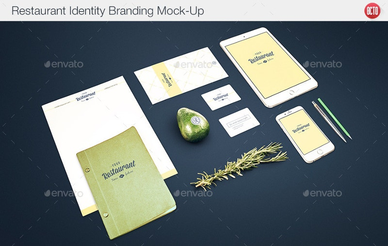 Restaurant Identity Mock-Up Design