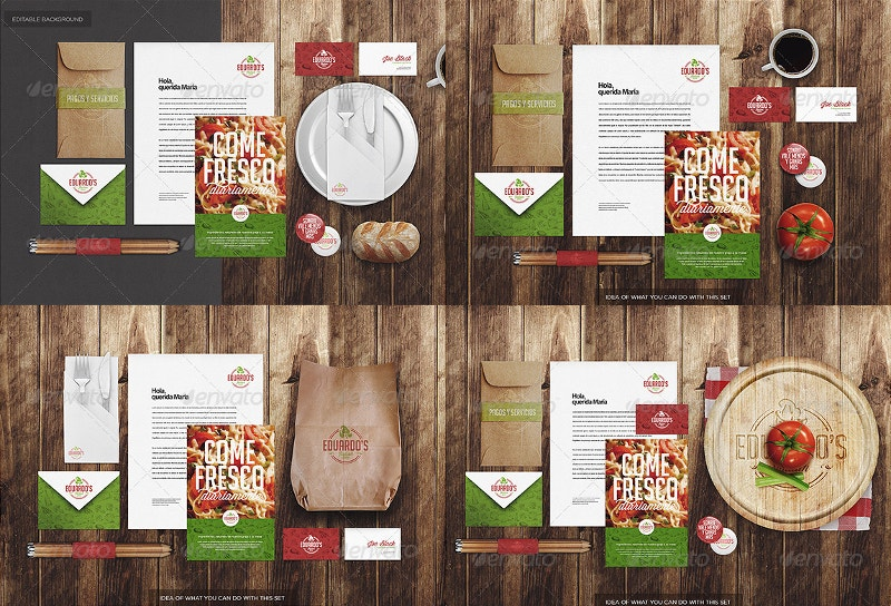 Italian Restaurant Identity Mock-up