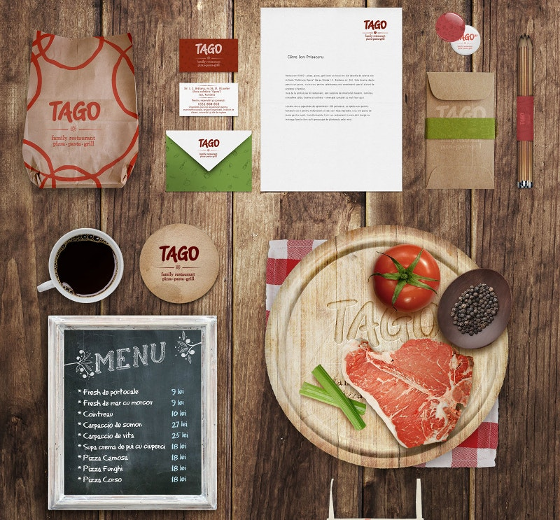 Graphic Design Restaurant Mockup Freee Download