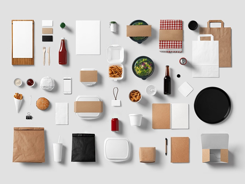 Free Restaurant Stationery Mock-Up