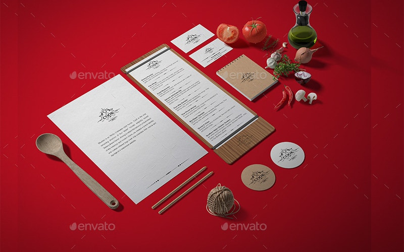Food Branding Identity Mock-up