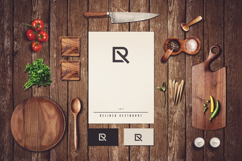 Changeable Restaurant Branding Mock-up