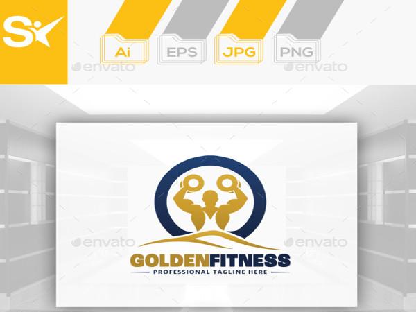 golden fitness logo