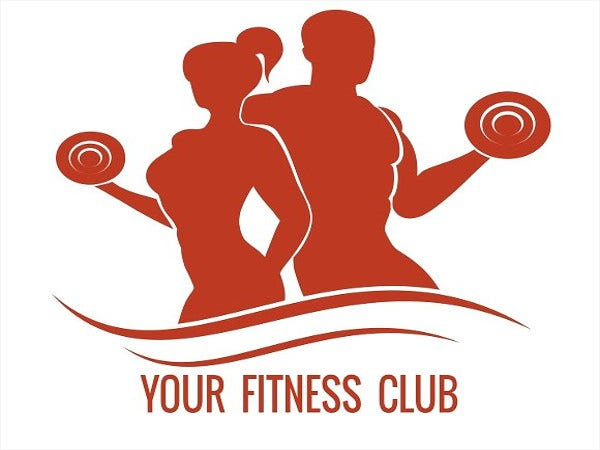 fitness logo with muscled man and woman1