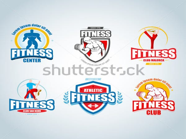 fitness logo templates