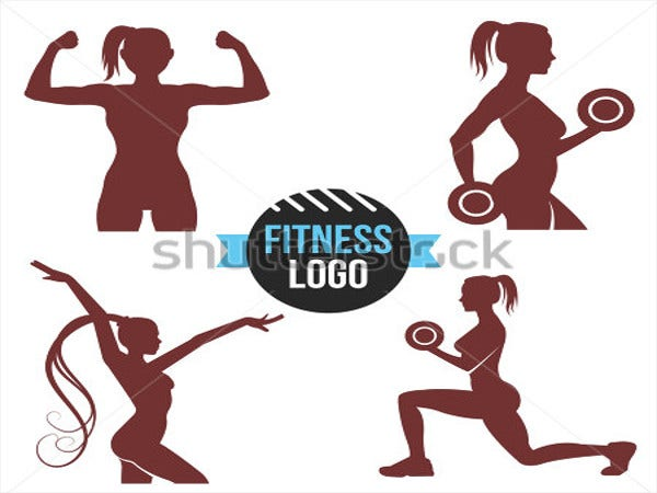elegant women fitness logo