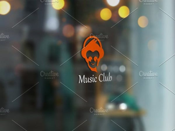 music club logo template