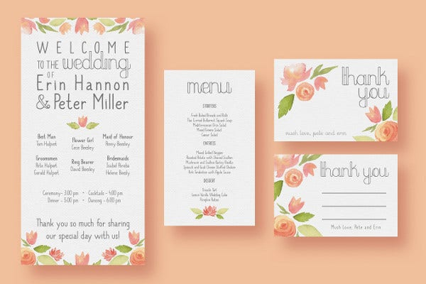 Garden Watercolour Wedding Invitation