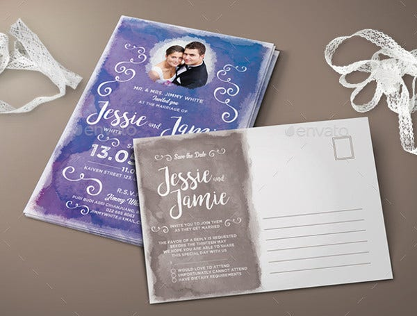 RSVP Watercolor Wedding Invitation