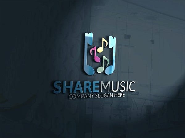 melody share music logo download