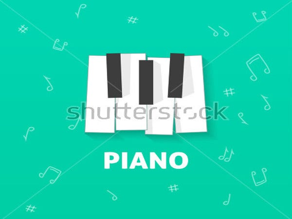 illustration music logo design