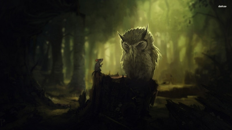 Landscape Owl Artwork