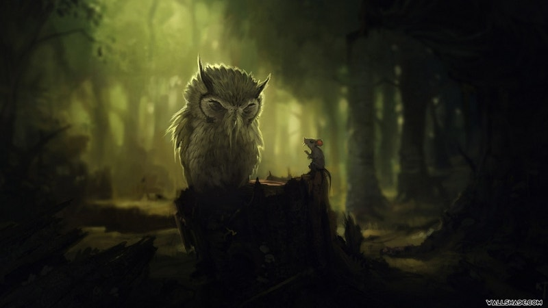 Free Forest Owl Artwork