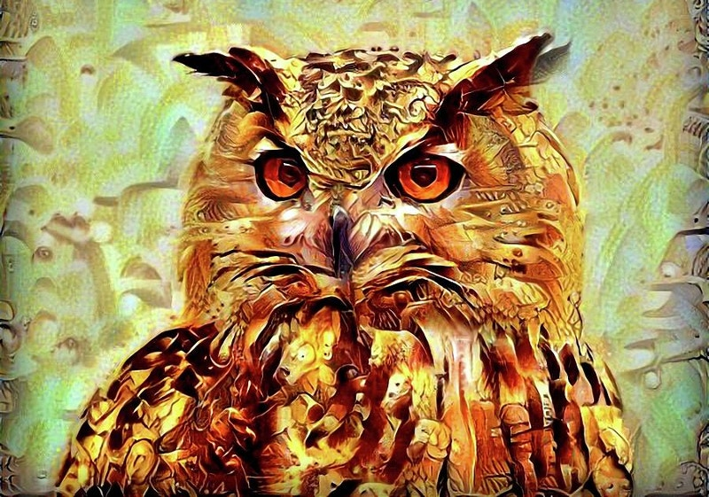 Digital Artwork of Owl
