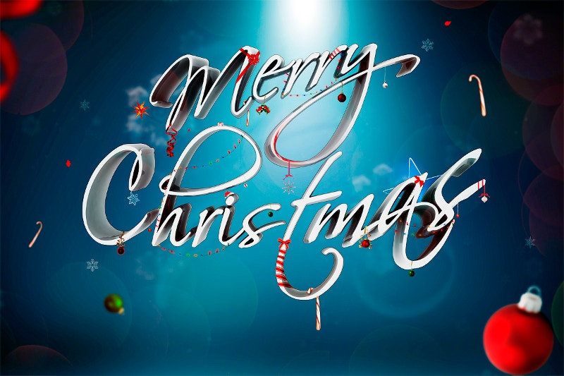 xmas typography design