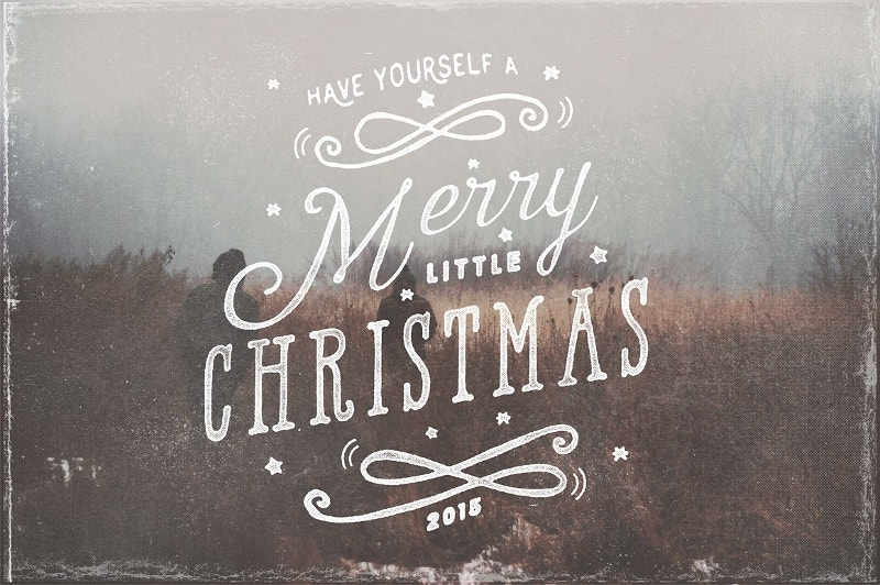 typography christmas photo overlay