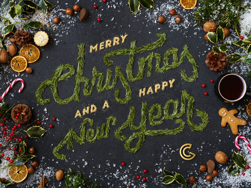 merry christmas typography design free