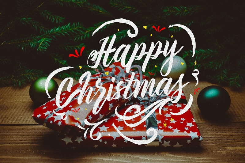 happy christmas typography