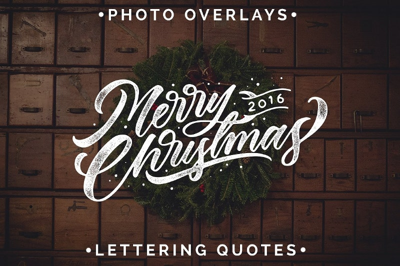 handcraft christmas typography