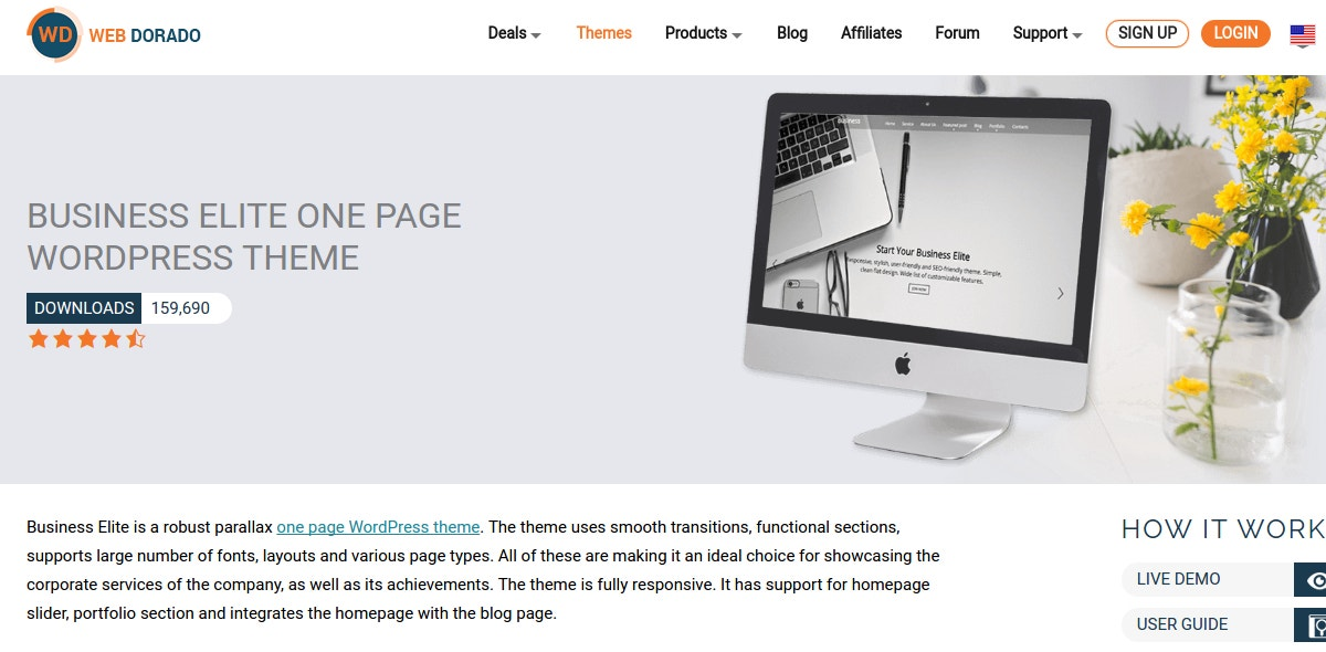 business blogger website theme1