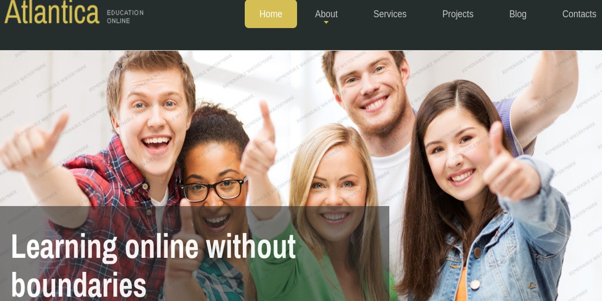 free education joomla template