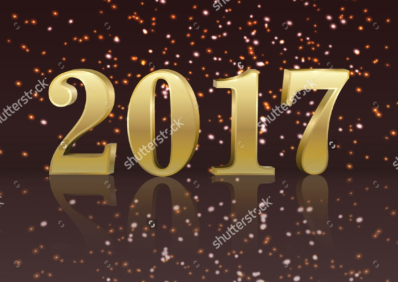 Vector Gold 2017 New Year Flyer
