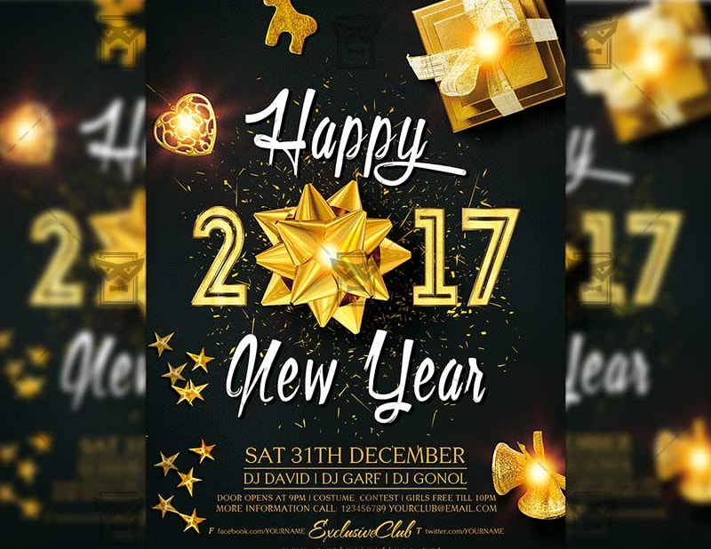 Free Download 2017 New Year Flyer