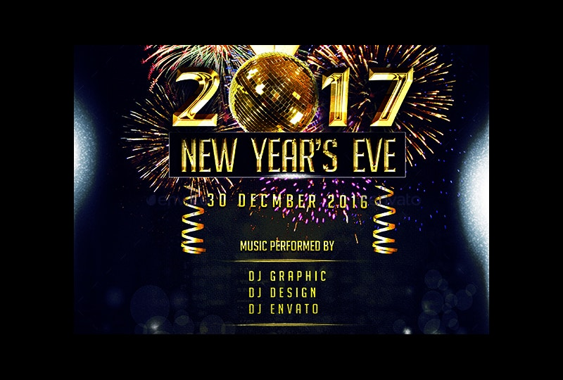 2017 New Year Party Flyer