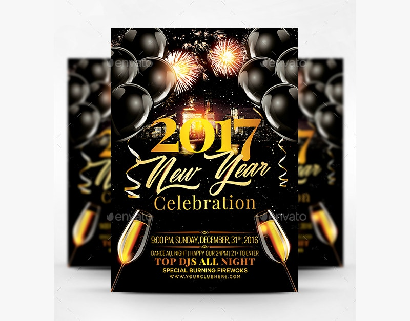 2017 New Year Celebration Flyer