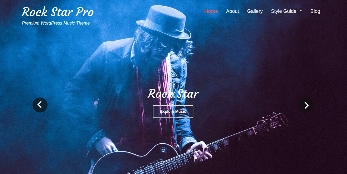 Rock Band Music WordPress Theme