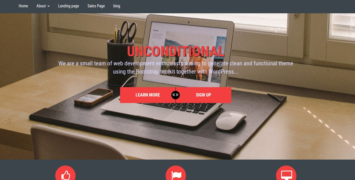 bootstrap wordpress theme1