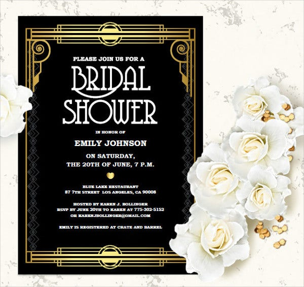 Bridal Shower Invitation Templates Free PSD Vector AI EPS - Bridal shower invitation template