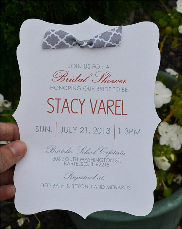 free floral bridal shower invitation template