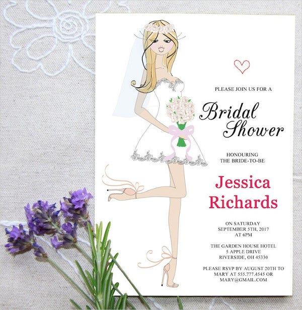 Personalised Bridal Shower invitation Template