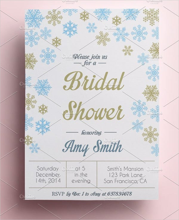 Winter Bridal Shower Invitation Template