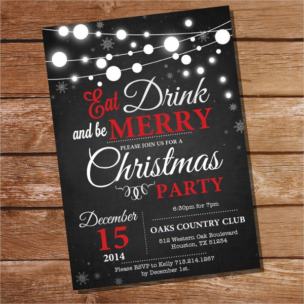 31 Christmas Party Invitation Templates Psd Ai Word Publisher