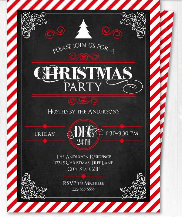 Customizable Christmas Party Invitation Template