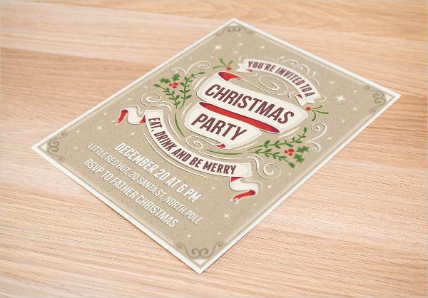 Different Color Christmas party invitationi