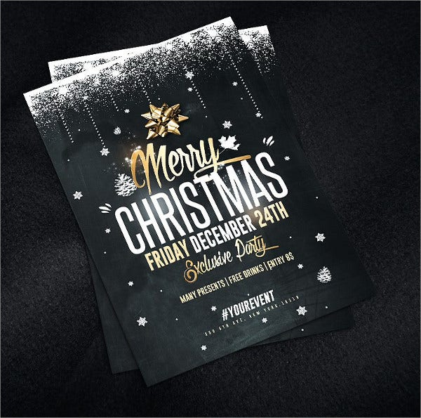 PSD Design Christmas Party Invitation