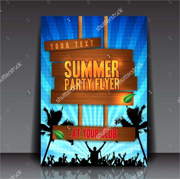 Blue Summer Party Flyer Design