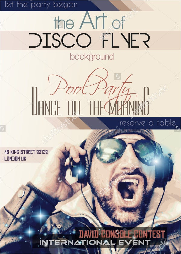 Disco Night Club Party Flyer