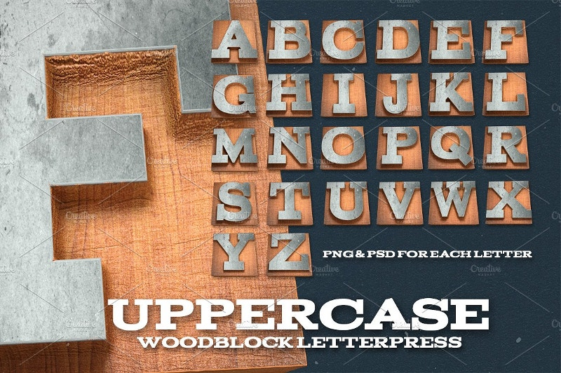 wood alphabets kit