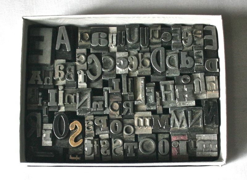 Vintage Letterpress Type Box