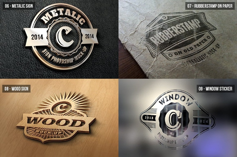 photorealistic corporate logo mock up
