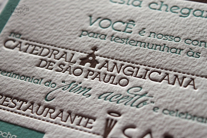 letterpress typography in brasil